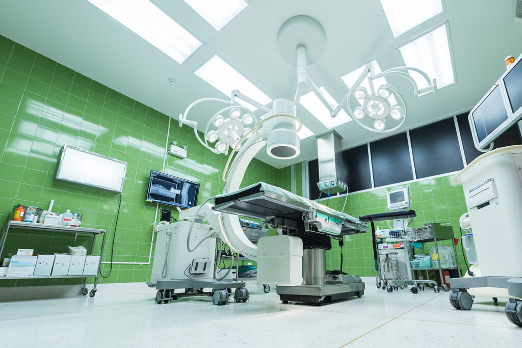Healthcare unit making use of technology to improve surgery
